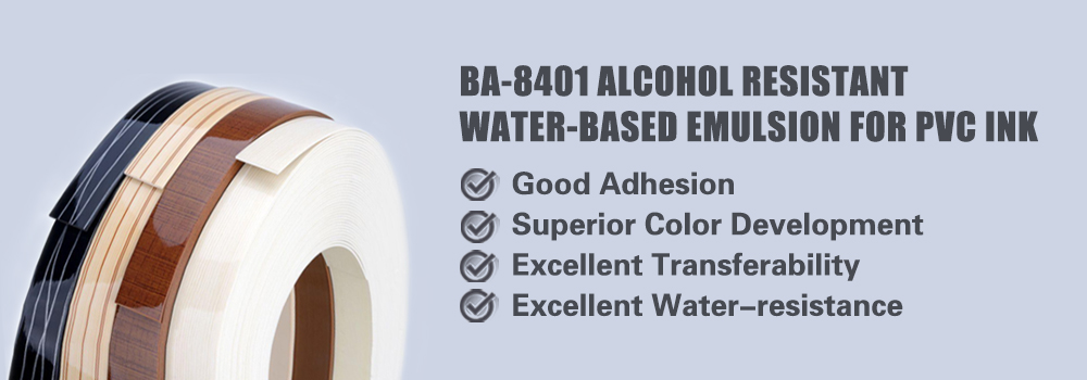 Alcohol resistant water-based emulsion for PVC ink (BA-8401)