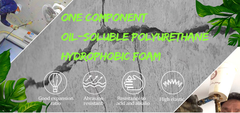 Hydrophobic polyurethane grout materials For Grouting Machine