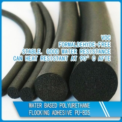Water based polyurethane flocking adhesive