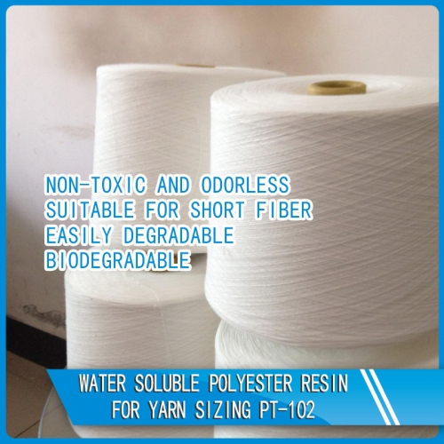 Water soluble polyester resin for yarn sizing