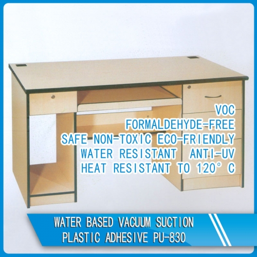 Water based vacuum suction plastic adhesive