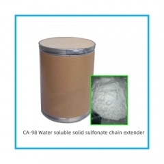 Water soluble solid sulfonate chain extender