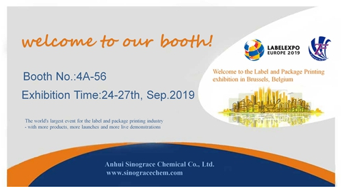 We Anhui Sinograce Chemical Co., Ltd. will join the label expo europe 2019